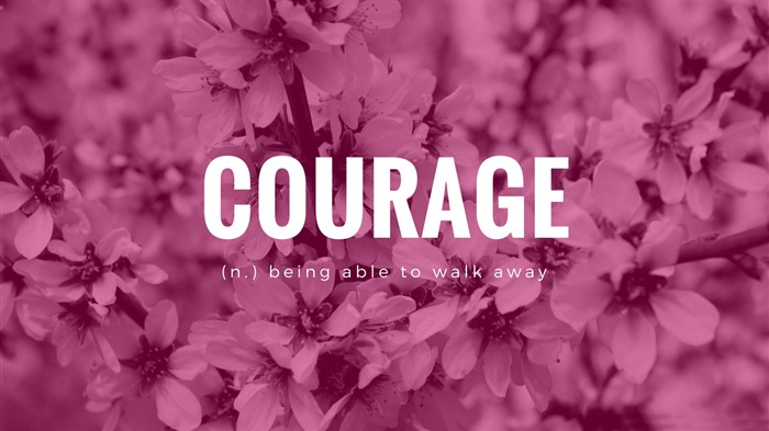 Courage-Text Artistic Design HD Wallpaper Views:1214