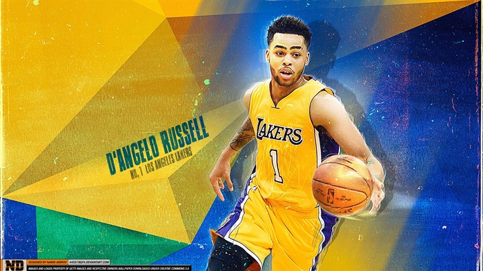 Title:D Angelo Russell Lakers-2016 Basketball Star Poster Wallpaper Views:798