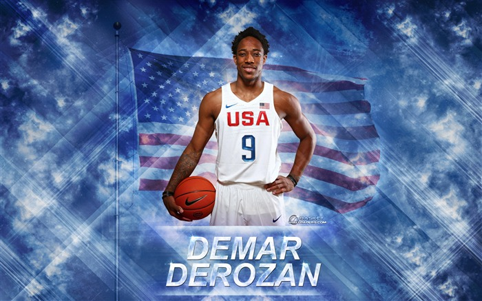 DeMar DeRozan-2016 Basketball Star Poster Wallpaper