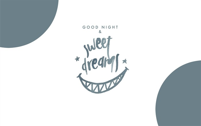 Good night and sweet dreams-Text Artistic Design HD Wallpaper Views:1393