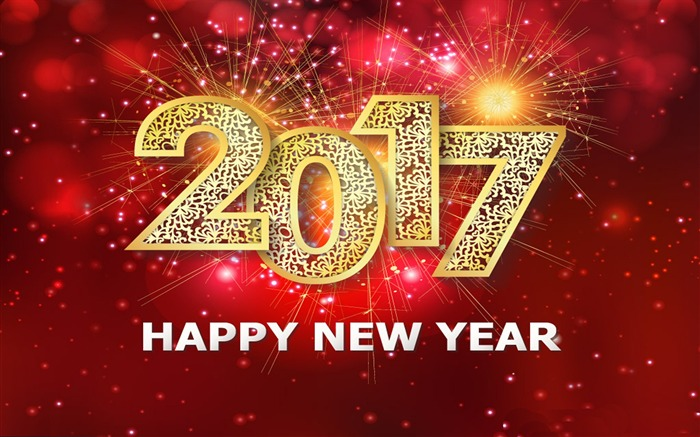 Happy New Year 2017 HD Holiday Desktop Wallpaper Views:4722