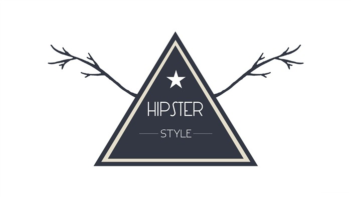 Hipster style badge-Text Artistic Design HD Wallpaper Views:730