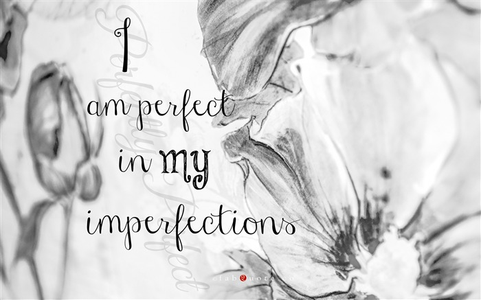 I am perfect in my imperfections-Text Artistic Design HD Wallpaper Views:1648