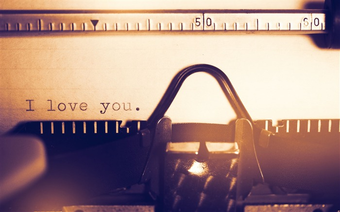 I love you typewriter-2016 High Quality HD Wallpaper