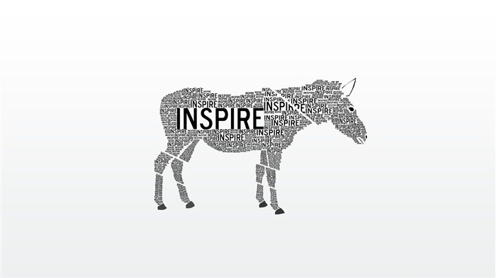 Inspire-Text Artistic Design HD Wallpaper Views:858