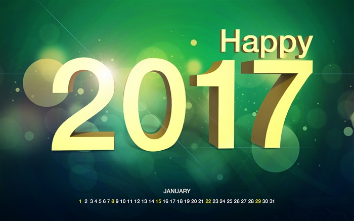 January 2017 Calendar Desktop Themes Wallpaper Views:7013