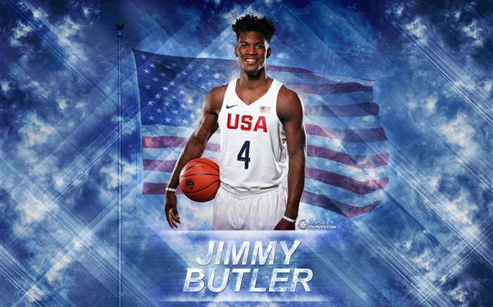 Jimmy Butler-2016 Basketball Star Poster Wallpaper