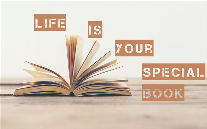 Life is your special book-Text Artistic Design HD Wallpaper Views:954