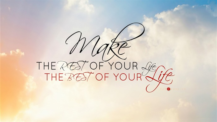 Make the rest of your life-Text Artistic Design HD Wallpaper Views:862