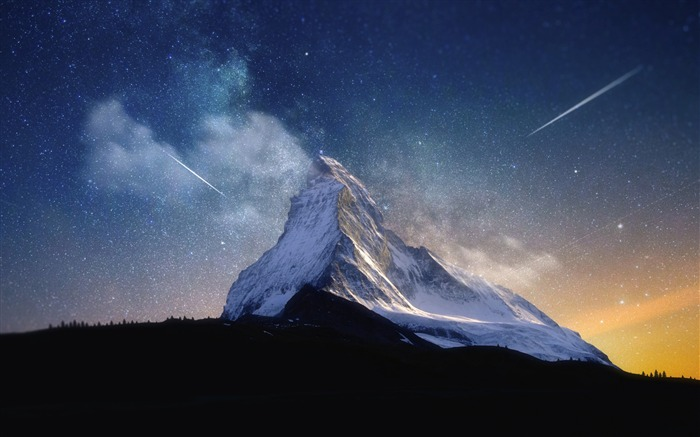 Milky way mountain-Nature High Quality HD Wallpaper Views:6591 Date:12/10/2016 10:22:05 PM