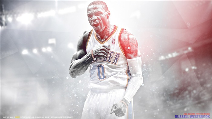 Russell Westbrook-2016 Basketball Star Poster Wallpapers Views:1209