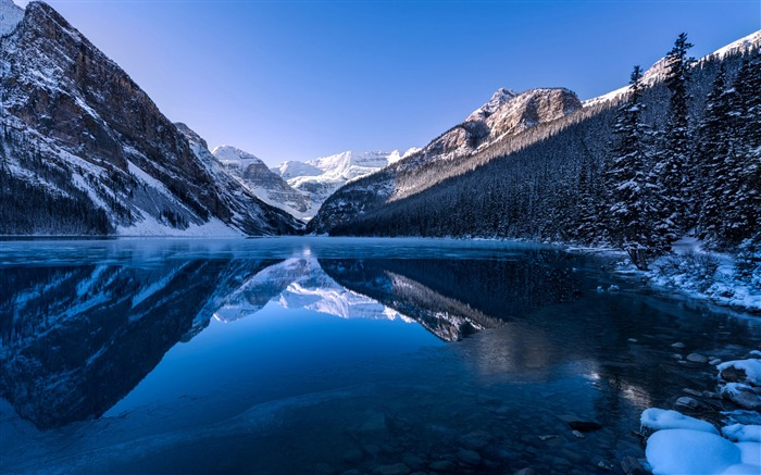 Snow mountains lakes-Nature High Quality HD Wallpaper Views:8309 Date:12/10/2016 10:32:00 PM