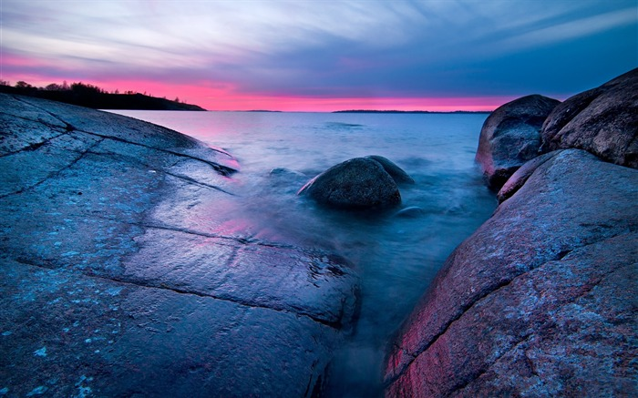 Stones lines decline horizon-World Travel HD Wallpaper Views:976