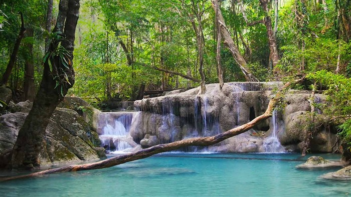 Thailand Erawan National Park Kanchanaburi Province-2016 Bing Desktop Wallpaper Views:639