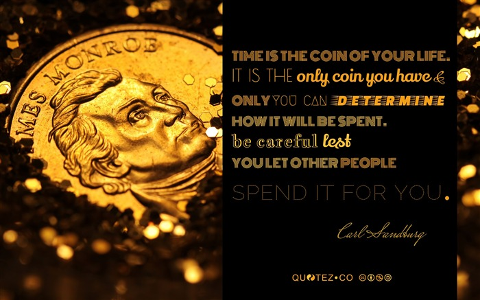 Time is the coin of your life-Text Artistic Design HD Wallpaper Views:990