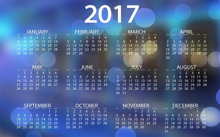 2017 Calendar-High Quality HD Wallpaper