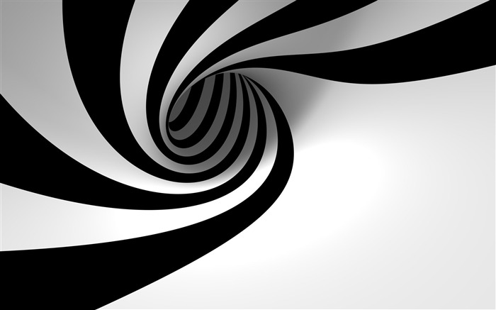 3D view abstract black and white-Vector Design HD Wallpaper Views:1039