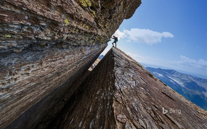 A climber in the Cabinet Mountains Wilderness in Montana-2017 Bing Desktop Wallpaper Views:927