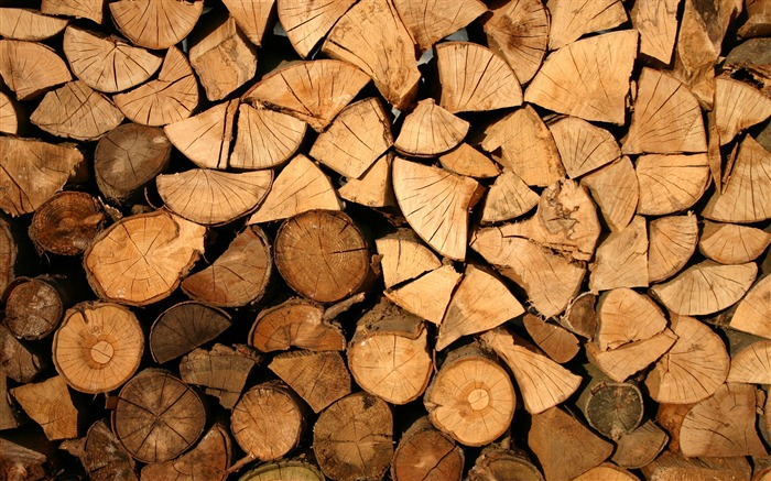 Brown firewood close-up-Life Photography HD Wallpaper Views:1199