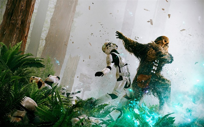 Chewbacca stormtroopers-2017 Movie HD Wallpaper