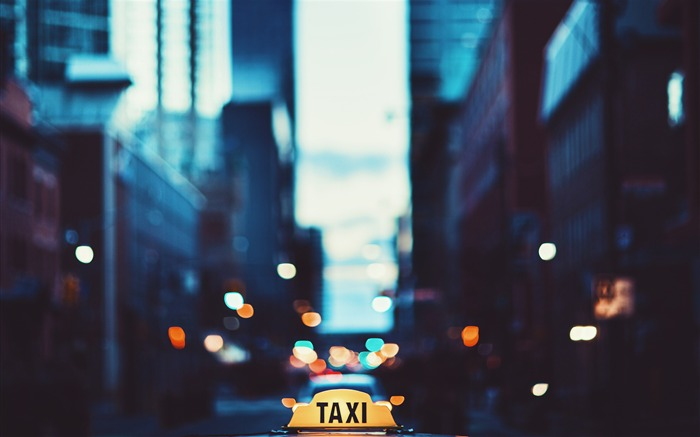 Focused photo of taxi signage-Cities Photography HD Wallpaper Views:1163