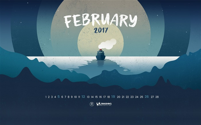 Greben Icebreaker-February 2017 Calendar Wallpaper