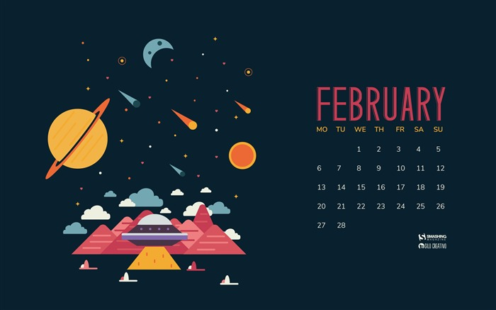In Another Place At The Same Time-February 2017 Calendar Wallpaper Views:1487