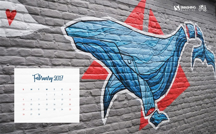 Inertia-February 2017 Calendar Wallpaper Views:1689