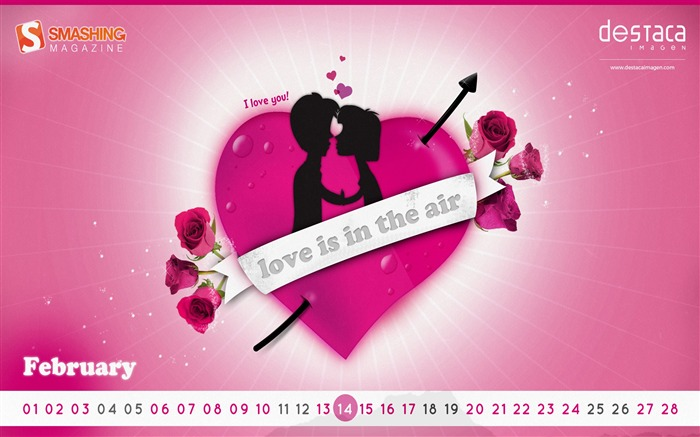 Love Is In The Air-February 2017 Calendar Wallpaper Views:749