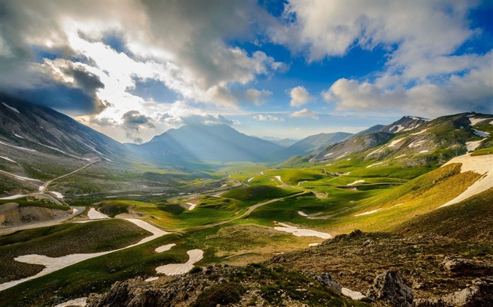 Mountains italy sky valley-Scenery HD Wallpaper Views:1564