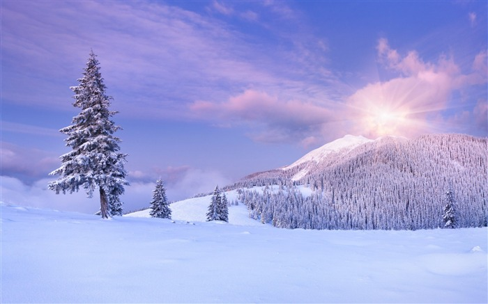 Mountains snow winter clouds-Scenery HD Wallpaper Views:1019