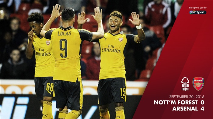 Nottingham Forest 0-4 Arsenal-2016-2017 Arsenal Club Wallpaper Views:708