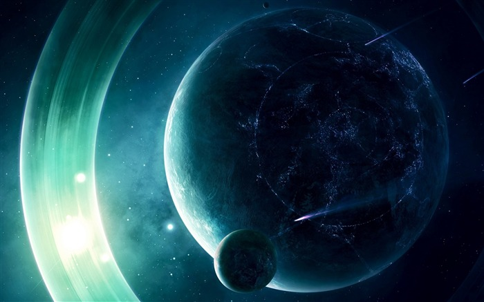Space planet light-Space High Quality Wallpaper