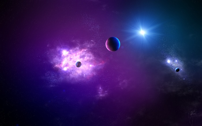 Space planet light galaxy-Space High Quality Wallpaper