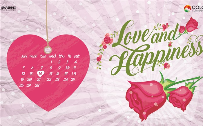 The Day Of Love-February 2017 Calendar Wallpaper Views:704
