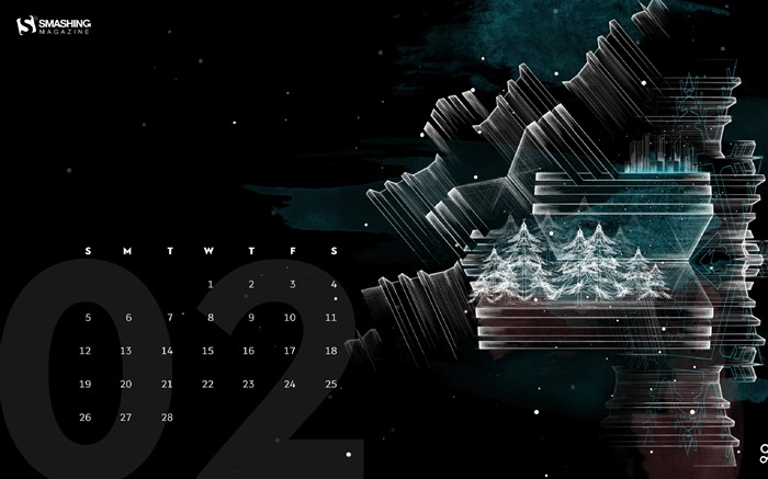 Winter Wonderland-February 2017 Calendar Wallpaper Views:649