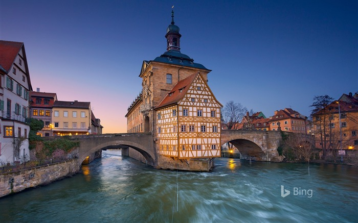Altes Rathaus Bamberg Bayern Deutschland-2017 Bing Desktop Wallpaper Views:391