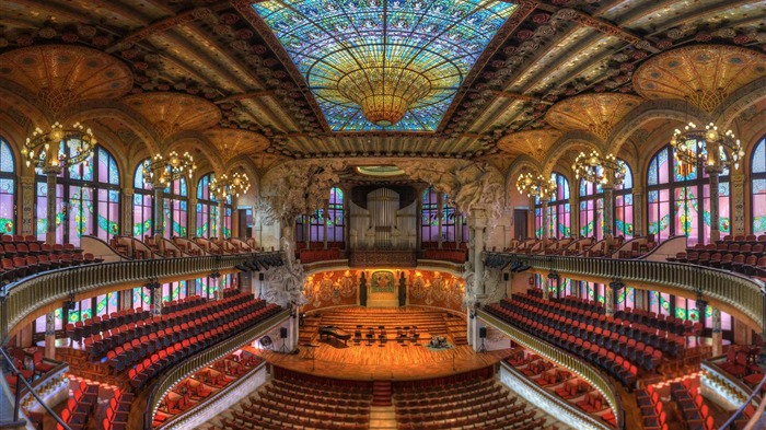 Barcelona Spain Catalonia Concert Hall-2017 Bing Desktop Wallpaper Views:569