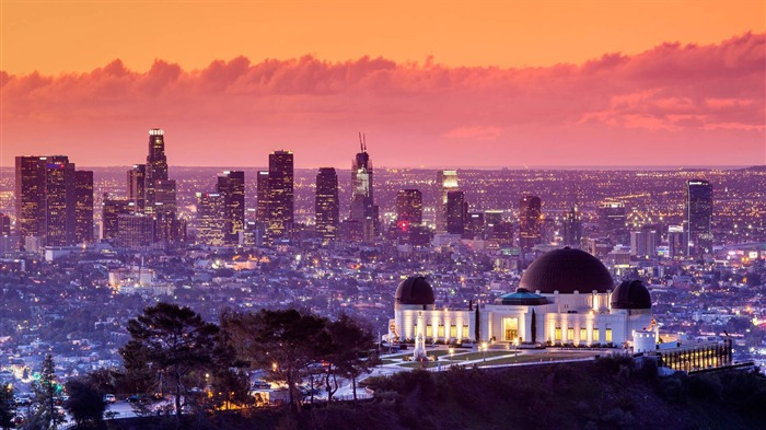 California Los Angeles Griffith Observatory-2017 Bing Desktop Wallpaper