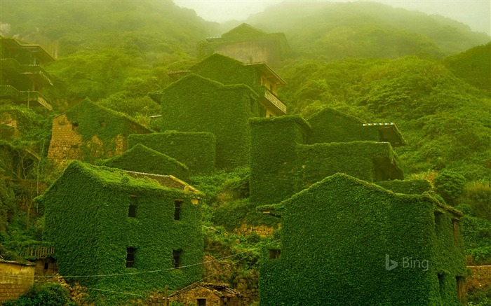 China The abandoned village Island-2017 Bing Desktop Wallpaper