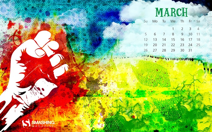 Freedom In March-March 2017 Calendar Wallpaper Views:1676