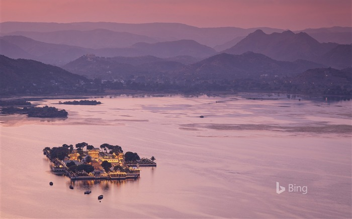 India Rajasthan Lake Pichola in Udaipur-2017 Bing Desktop Wallpaper Views:1947