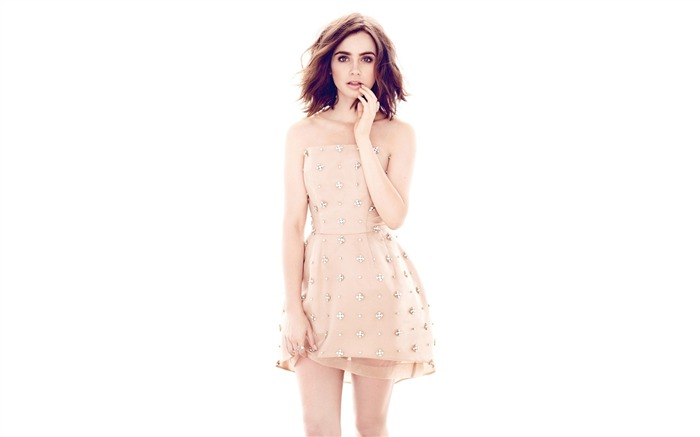 Lily collins magazine-High Quality HD Wallpaper Views:956