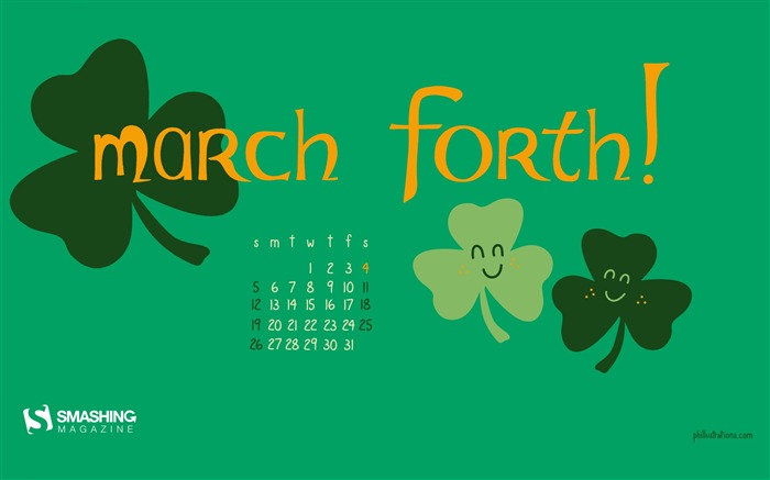 March Forth-March 2017 Calendar Wallpaper Views:1702