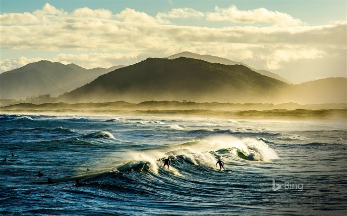 Santa Catarina Surfers on Florianopolis-2017 Bing Desktop Wallpaper Views:1413
