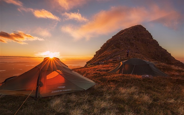 Title:Wild camp sunset-Nature HD Wallpaper Views:1109