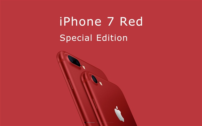 Apple 2017 iPhone 7 Red Special Edition HD Wallpaper 02 Views:1588