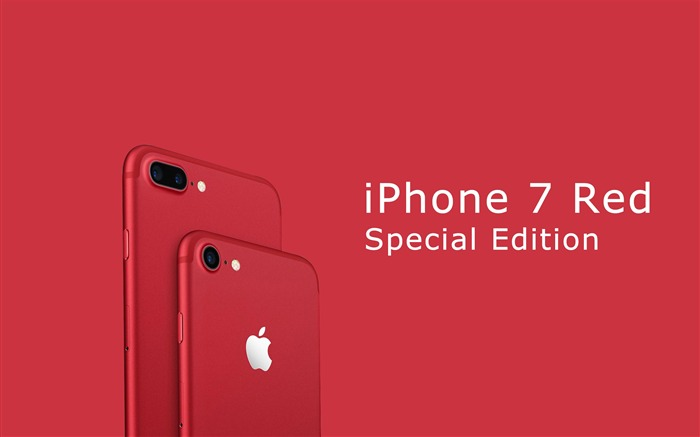 Apple 2017 iPhone 7 Red Special Edition HD Wallpaper 04 Views:1614