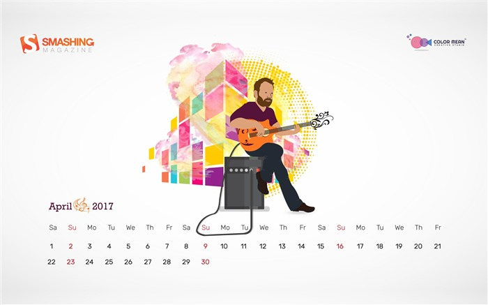 Aprils Octave-April 2017 Calendar Wallpaper