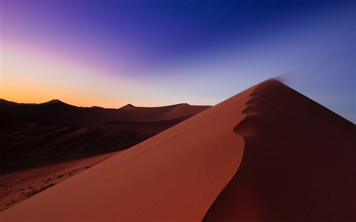 Desert sand hill line-Scenery High Quality Wallpaper